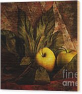 Comfy Apples Wood Print