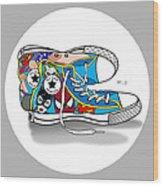 Comics Shoes 2 Wood Print