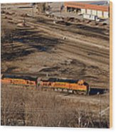 Coming From The Train Yard Wood Print