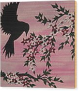 Coming Home To Roost Wood Print by Cathy Jacobs