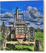 Coming Out Of A Heavy Action Tractor Wood Print