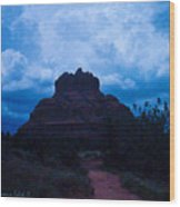 Coming Storm Bell Rock Wood Print