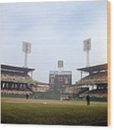Comiskey Park Photo From The Outfield Wood Print