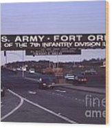 Fort Ord  Commander  Major General Marvin L. Covault  7th Infantry Division 1992 Wood Print