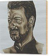 commander William Riker Star Trek TNG Wood Print