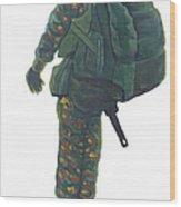Commando 02 Wood Print