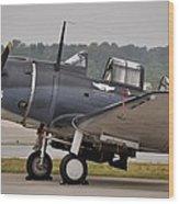 Commemorative Air Force - Douglas Sbd Dauntless Wood Print