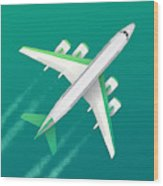 Commercial Air Travel Background Wood Print