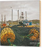 Commercial Fishing In The North Atlantic Wood Print
