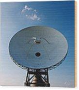 Communicating Via Satellite Dishes. Wood Print