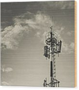 Communication Tower Wood Print
