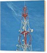 Communications Mast Hua Hin Wood Print