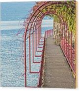 Como District Lake, Varenna Wood Print