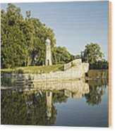 Como Lake Park Wood Print