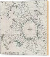 Comparative Map Or Chart Of The Worlds Great Rivers Wood Print