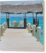 Tranquility At Compass Point, Nassau, Bahamas Wood Print