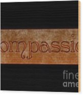 Compassion Wood Print by Peter R Nicholls