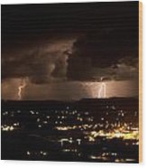 Competing Storms Wood Print