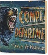 Complaint Department Wood Print by JQ Licensing