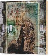 Composition Based On Angkor History Wood Print