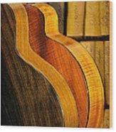 The Shape Of Music Wood Print