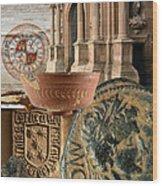 Composition For Poster Xiv Jornadas De Estudios Calagurritanos Wood Print