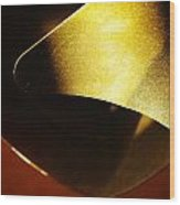 Composition In Gold Wood Print