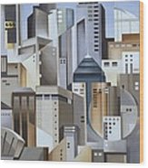 Composition Looking East Wood Print by Catherine Abel