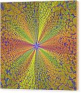 Computer Generated Fractal Art Wood Print