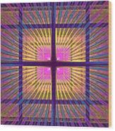 Computer Generated Fractal Squares Geometric Pattern Wood Print