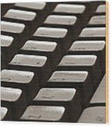 Computer Keyboard Wood Print