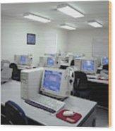 Computer Lab, C1990 Wood Print