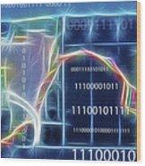 Computing - Fractalius 2 Wood Print