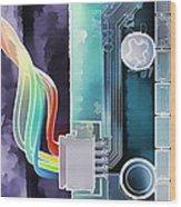 Computing Wood Print by Steve Ohlsen