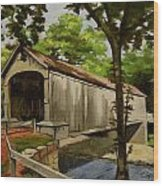 Comstock Covered Bridge East Hamptom Connecticut Wood Print