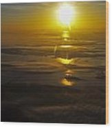 Conanicut Island And Narragansett Bay Sunrise II Wood Print