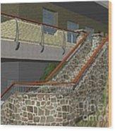 Concept Railing Wood Print