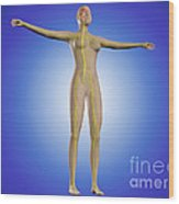 Conceptual Image Of Female Nervous Wood Print