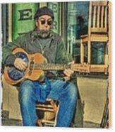 Concert At The Deli Wood Print