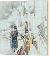 Concert In The Snow Wood Print