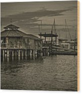 Conch House Marina Wood Print by Mario Celzner