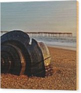 Conch Shell And Pier 6 12/5 Wood Print