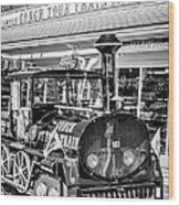 Conch Tour Train 1 Key West - Black And White Wood Print