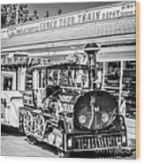 Conch Tour Train 2 Key West - Square - Black And White Wood Print