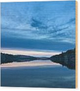 Concord Blue Hour Reflections Wood Print