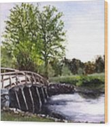 Concord Bridge Wood Print