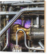 Concord Engine Hdr Wood Print by SteveHPhotos