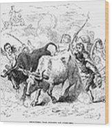 Concord: Evacuation, 1775 Wood Print by Granger