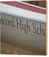 Concord High School Wood Print