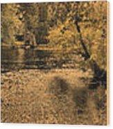 Concord River At Old North Bridge Wood Print